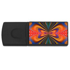 Casanova Abstract Art Colors Cool Druffix Flower Freaky Trippy Usb Flash Drive Rectangular (4 Gb) by BangZart