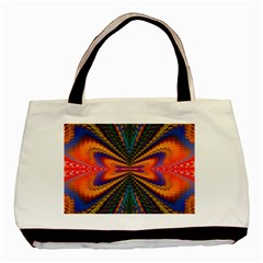 Casanova Abstract Art Colors Cool Druffix Flower Freaky Trippy Basic Tote Bag by BangZart