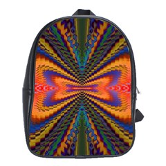 Casanova Abstract Art Colors Cool Druffix Flower Freaky Trippy School Bags(large)  by BangZart