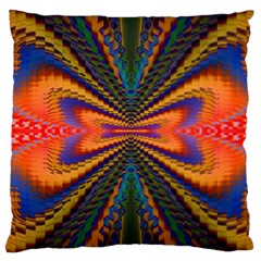 Casanova Abstract Art Colors Cool Druffix Flower Freaky Trippy Large Cushion Case (two Sides) by BangZart