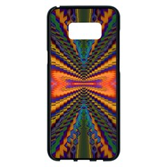 Casanova Abstract Art Colors Cool Druffix Flower Freaky Trippy Samsung Galaxy S8 Plus Black Seamless Case