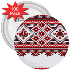 Consecutive Knitting Patterns Vector 3  Buttons (100 Pack)