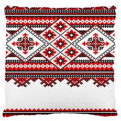 Consecutive Knitting Patterns Vector Large Cushion Case (two Sides) by BangZart