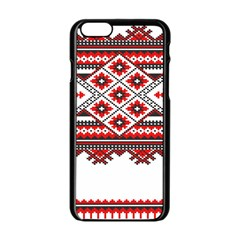 Consecutive Knitting Patterns Vector Apple Iphone 6/6s Black Enamel Case by BangZart
