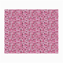 Abstract Pink Squares Small Glasses Cloth