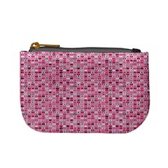 Abstract Pink Squares Mini Coin Purses