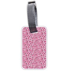 Abstract Pink Squares Luggage Tags (one Side)  by BangZart
