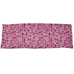 Abstract Pink Squares Body Pillow Case Dakimakura (two Sides) by BangZart