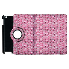 Abstract Pink Squares Apple Ipad 3/4 Flip 360 Case by BangZart