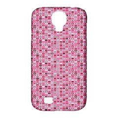 Abstract Pink Squares Samsung Galaxy S4 Classic Hardshell Case (pc+silicone) by BangZart