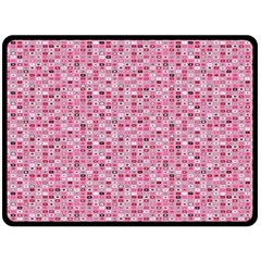 Abstract Pink Squares Double Sided Fleece Blanket (large)  by BangZart