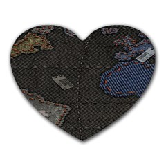 World Map Heart Mousepads by BangZart