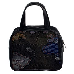 World Map Classic Handbags (2 Sides) by BangZart