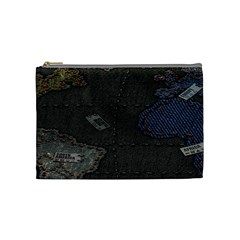 World Map Cosmetic Bag (medium)  by BangZart