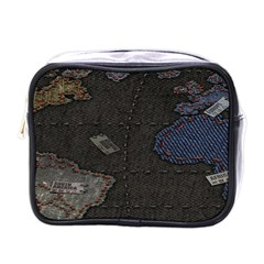 World Map Mini Toiletries Bags by BangZart