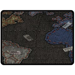 World Map Double Sided Fleece Blanket (large)  by BangZart