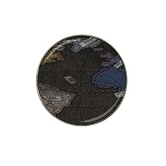 World Map Hat Clip Ball Marker (4 Pack) by BangZart