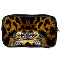 Textures Snake Skin Patterns Toiletries Bags by BangZart