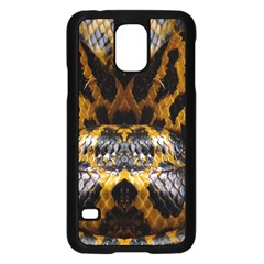 Textures Snake Skin Patterns Samsung Galaxy S5 Case (black) by BangZart