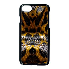 Textures Snake Skin Patterns Apple Iphone 7 Seamless Case (black) by BangZart