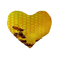 Sweden Honey Standard 16  Premium Heart Shape Cushions