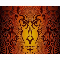 Lion Man Tribal Canvas 8  X 10  by BangZart