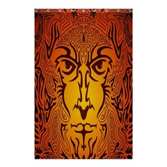 Lion Man Tribal Shower Curtain 48  X 72  (small)  by BangZart