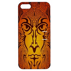 Lion Man Tribal Apple Iphone 5 Hardshell Case With Stand by BangZart