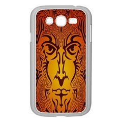 Lion Man Tribal Samsung Galaxy Grand Duos I9082 Case (white) by BangZart