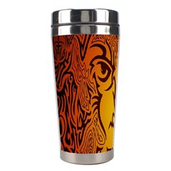 Lion Man Tribal Stainless Steel Travel Tumblers by BangZart