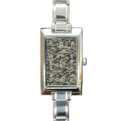 Us Army Digital Camouflage Pattern Rectangle Italian Charm Watch by BangZart