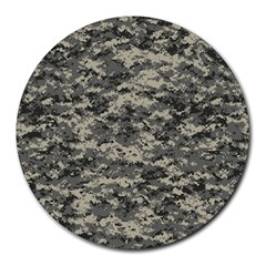 Us Army Digital Camouflage Pattern Round Mousepads by BangZart