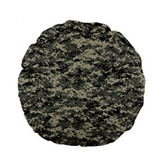 Us Army Digital Camouflage Pattern Standard 15  Premium Flano Round Cushions