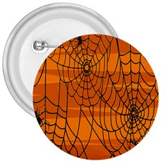 Vector Seamless Pattern With Spider Web On Orange 3  Buttons by BangZart