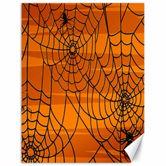 Vector Seamless Pattern With Spider Web On Orange Canvas 18  X 24   by BangZart