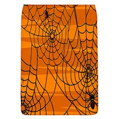 Vector Seamless Pattern With Spider Web On Orange Flap Covers (l)  by BangZart