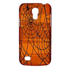 Vector Seamless Pattern With Spider Web On Orange Galaxy S4 Mini by BangZart