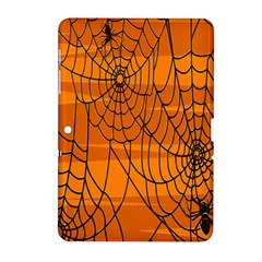 Vector Seamless Pattern With Spider Web On Orange Samsung Galaxy Tab 2 (10 1 ) P5100 Hardshell Case  by BangZart