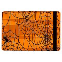 Vector Seamless Pattern With Spider Web On Orange Ipad Air Flip by BangZart