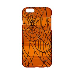 Vector Seamless Pattern With Spider Web On Orange Apple Iphone 6/6s Hardshell Case by BangZart