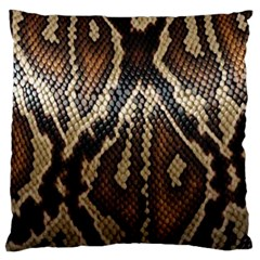 Snake Skin O Lay Large Cushion Case (two Sides)