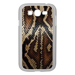 Snake Skin O Lay Samsung Galaxy Grand Duos I9082 Case (white) by BangZart