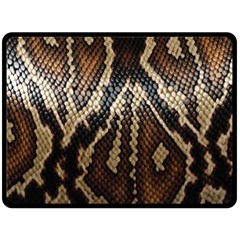 Snake Skin O Lay Double Sided Fleece Blanket (large)  by BangZart