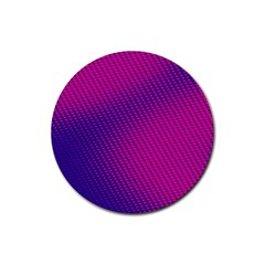 Purple Pink Dots Rubber Round Coaster (4 Pack)