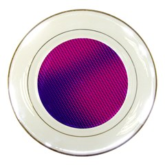 Purple Pink Dots Porcelain Plates by BangZart