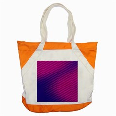 Purple Pink Dots Accent Tote Bag