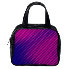 Purple Pink Dots Classic Handbags (one Side) by BangZart