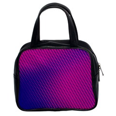 Purple Pink Dots Classic Handbags (2 Sides) by BangZart