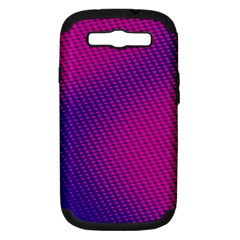 Purple Pink Dots Samsung Galaxy S Iii Hardshell Case (pc+silicone) by BangZart