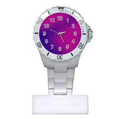 Purple Pink Dots Plastic Nurses Watch by BangZart